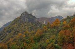 Forteresse de Mileseva, Serbie - photo d'automne Photographie stock