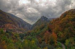 Forteresse de Mileseva, Serbie - photo d'automne Photos stock