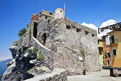 Forteresse de Moyen Âge Castello Dragone dans Camogli photo libre de droits