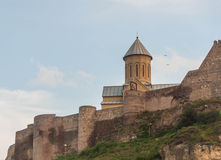 Forteresse de Narikala, Tbilisi Images stock