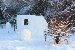 Forteresse de neige Photos stock