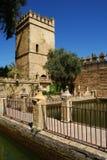 Forteresse de palais des rois chrétiens, Cordoue Image libre de droits
