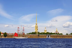 Forteresse de Peter et de Paul. St Petersburg, Russie Photos libres de droits