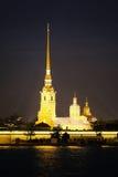 Forteresse de Peter et de Paul dans Sankt-peterburg Photos libres de droits