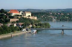 Forteresse de Petrovaradin et rivière Danube à Novi Sad, Serbie Photographie stock libre de droits