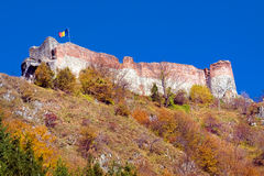 Forteresse de Poienari photo stock