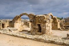 Forteresse de quarante colonnes dans Paphos images libres de droits