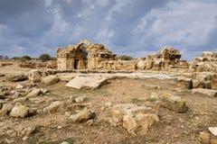 Forteresse de quarante colonnes dans Paphos photos libres de droits