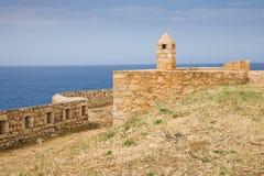 Forteresse de Rethymno, Crète Photographie stock libre de droits