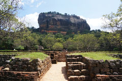 Forteresse de roche de Sigiriya, Sigiryia, Sri Lanka image stock