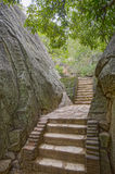 Forteresse de roche de Sigirya, Sri Lanka Images libres de droits
