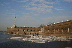 Forteresse de rue Peter et Paul à St Petersburg Photos libres de droits