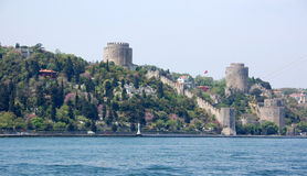 Forteresse de Rumeli au printemps Photos libres de droits