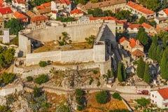 Forteresse de Sibenik St Michael Image libre de droits