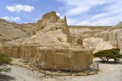 Forteresse de Zohar dans le désert de Judea. images libres de droits