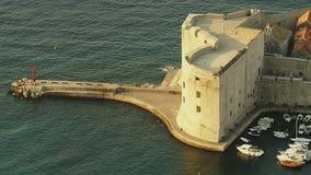 Forteresse Dubrovnik de St John banque de vidéos