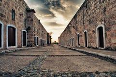Forteresse espagnole intérieure photographie stock