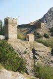 Forteresse Genoese dans la ville de Sudak Photo libre de droits
