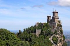 Forteresse Italie de Guaita Saint-Marin de della de Rocca Photo libre de droits