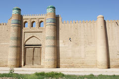 Forteresse, Khiva, l'Ouzbékistan Photo stock