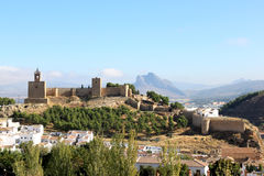 Forteresse l'Alcazaba d'Antequera, Espagne Images stock