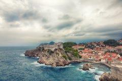 Forteresse Lovrijenac dans Dubrovnik, Croatie Photographie stock libre de droits