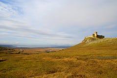 Forteresse médiévale d'Enisala dans la région de Dobrogea, Roumanie Photo libre de droits