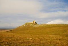 Forteresse médiévale d'Enisala dans la région de Dobrogea, Roumanie Image libre de droits