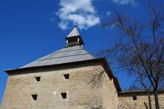 Forteresse médiévale dans Staraya Ladoga Photographie stock libre de droits