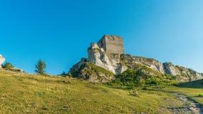 Forteresse médiévale de château d'Olsztyn dans la région de Jura Photo stock