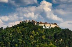 Forteresse médiévale de Rasnov, la Transylvanie, Roumanie photos stock