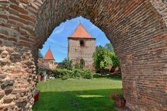Forteresse médiévale en Roumanie photographie stock libre de droits