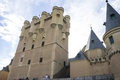 Forteresse médiévale, ville de château d'alcazar de Ségovie, Espagne Vieux à images libres de droits