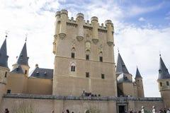 Forteresse médiévale, ville de château d'alcazar de Ségovie, Espagne Vieux à image stock