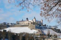 Forteresse Marienberg de Wurtzbourg Photos libres de droits