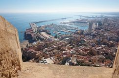 Forteresse Santa Barbara, Alicante photographie stock libre de droits
