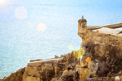 Forteresse Santa Barbara, Alicante, Espagne Illustration Stock