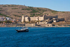 Forteresse sur Bozcaada, Turquie Photos stock
