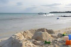 Forteresse sur la plage Photo libre de droits