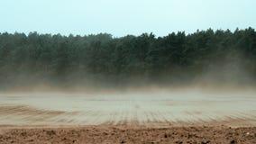 Fortes vento que varrem o solo nutricious fora da terra em Alemanha vídeos de arquivo