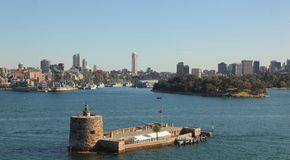 Fortess. Fortress on a island near Brisbane royalty free stock image