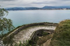 Fortess of Santoña. Spain. Old Fortress in Santoña. Cantabria in the north coast of Spain stock photography