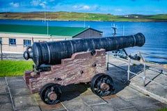 Fortet Charlotte i mitten av Lerwick, Shetland, är ettsidartillerifort, med bastioner på varje hörn Skottland som förenas fotografering för bildbyråer