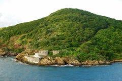 Fortet fördärvar på St Thomas ökust Royaltyfria Bilder