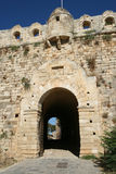 Fortetza castle (gate). View of Venetian old castle (Fortetza) at Rethymnon town (Crete, Greece). It is the one of the biggest and best standing castles in Crete Royalty Free Stock Image