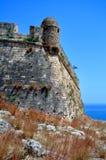Fortetza: Fortezza veneziana in Rethymno, Crete fotografia stock libera da diritti