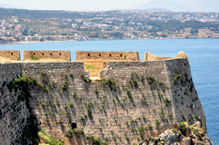 Fortetza: Venetian fortress in Rethymno, Crete Royalty Free Stock Images