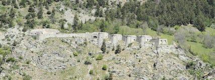 Fortezza in alpi Immagine Stock