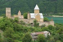Fortezza Ananuri, strada militare georgiana, Georgia, Europa Fotografia Stock Libera da Diritti