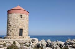 Fortezza antica greca in Rodi Fotografie Stock Libere da Diritti